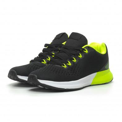 Ανδρικά μαύρα αθλητικά παπούτσια ελαφρύ μοντέλο it100519-2 3