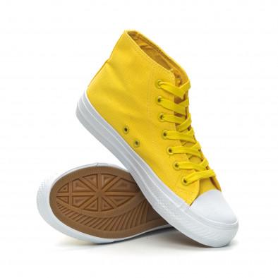 Γυναικεία Basic  κίτρινα ψηλά sneakers it150319-32 4