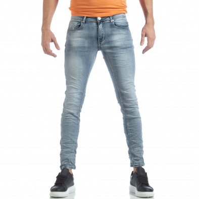 Ανδρικό γαλάζιο Washed Slim Jeans τζιν it040219-13 3