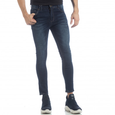 Ανδρικό μπλε κλασικό τζιν Skinny Jeans it040219-8 2