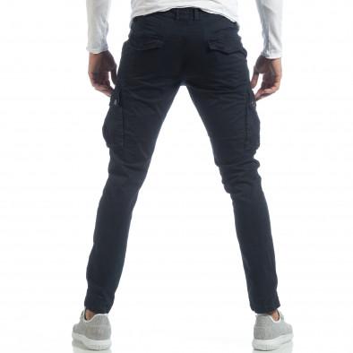 Ανδρικό μπλε παντελόνι με cargo τσέπες it040219-41 4