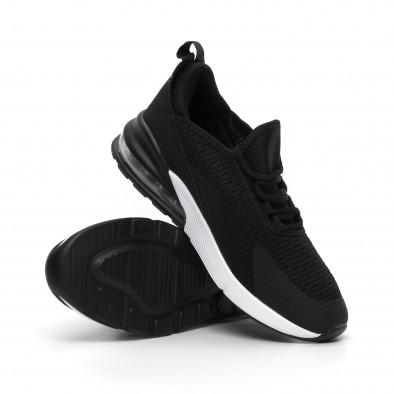 Ανδρικά μαύρα πάνινα αθλητικά παπούτσια με αερόσολα it260919-31 4