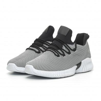 Ανδρικά γκρι αθλητικά παπούτσια Wave ελαφρύ μοντέλο it100519-5 3