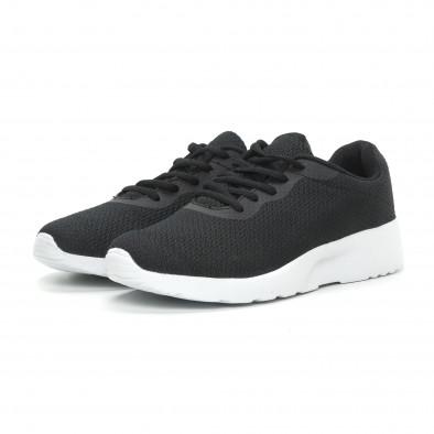 Ανδρικά μαύρα υφασμάτινα αθλητικά παπούτσια  it150319-3 3