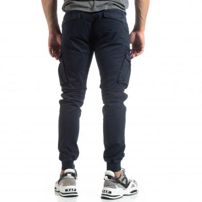 Ανδρικό μπλε παντελόνι Cargo Jogger it170819-8 4