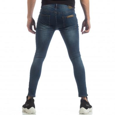 Ανδρικό γαλάζιο Skinny τζιν με φερμουάρ it040219-6 4