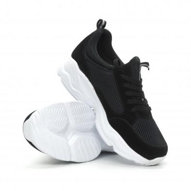 Ανδρικά μαύρα αθλητικά παπούτσια Chunky it150319-5 5