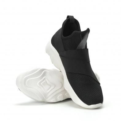 Slip- on ανδρικά μαύρα αθλητικά παπούτσια με λάστιχα it250119-8 4