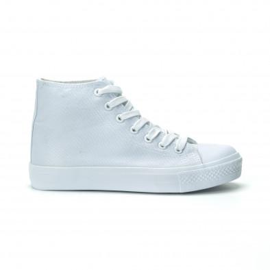 Γυναικεία λευκά ψηλά sneakers it250119-76 2