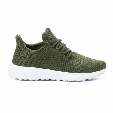 Ανδρικά πράσινα αθλητικά παπούτσια ελαφρύ μοντέλο it140918-17 2