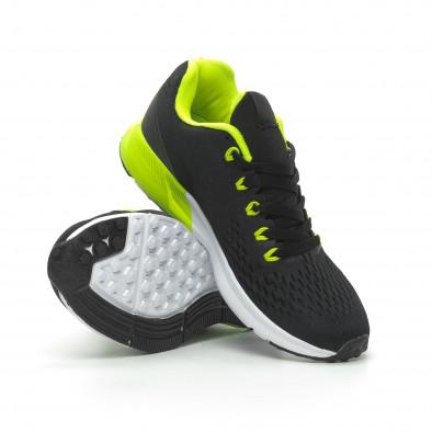Ανδρικά μαύρα αθλητικά παπούτσια ελαφρύ μοντέλο it100519-2 4