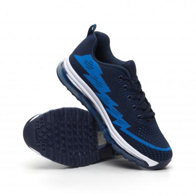 Ανδρικά μπλε αθλητικά παπούτσια με αερόσολα MAX it260919-42 4