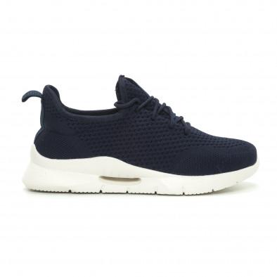 Ανδρικά μπλε αθλητικά παπούτσια ελαφρύ μοντέλο Hole design it150319-10 2