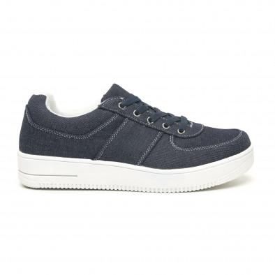 Ανδρικά ντένιμ  sneakers ελαφρύ μοντέλο it251019-2 2
