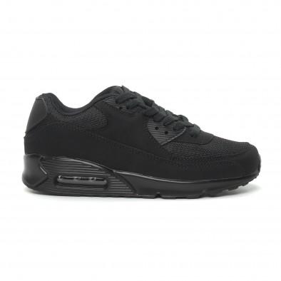 Γυναικεία μαύρα αθλητικά παπούτσια με αερόσολα it150319-54 2