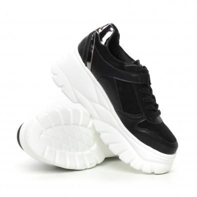 Γυναικεία Chunky αθλητικά παπούτσια μαύρα με πλατφόρμα it130819-36 4