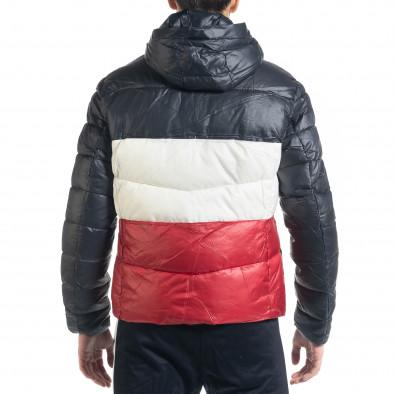 Ανδρικό χειμωνιάτικο μπουφάν με ρίγες it091219-13 4
