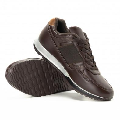 Ανδρικά καφέ αθλητικά παπούτσια κλασικό μοντέλο it221018-30 4