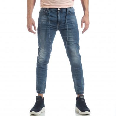 Ανδρικό γαλάζιο τζιν Jogger Jeans it040219-3 3