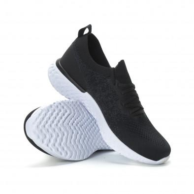 Ανδρικά μαύρα μελάνζ αθλητικά παπούτσια  it190219-1 4