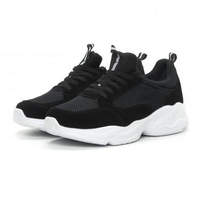 Ανδρικά μαύρα αθλητικά παπούτσια Chunky it150319-5 4