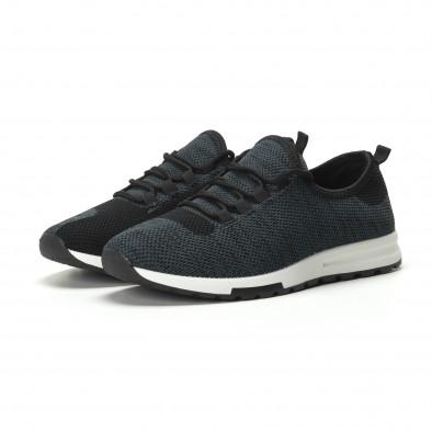 Ανδρικά μπλε μελάνζ αθλητικά παπούτσια ελαφρύ μοντέλο it250119-12 3
