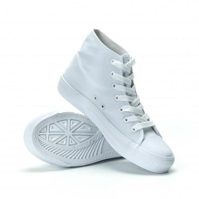 Γυναικεία λευκά ψηλά sneakers it250119-76 4