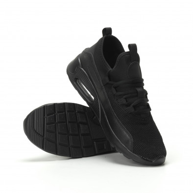 Ανδρικά μαύρα αθλητικά παπούτσια Air ελαφρύ μοντέλο it250119-29 4