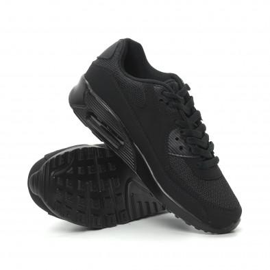 Γυναικεία μαύρα αθλητικά παπούτσια με αερόσολα it150319-54 4