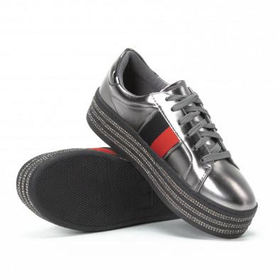 ... Γυναικεία ασημί sneakers με στρασάκια και πλατφόρμα it150818-45 4 ef4c00091ed