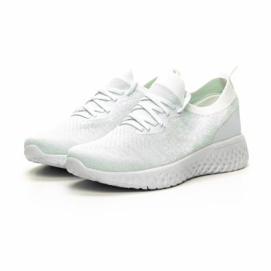 Γυναικεία λευκά αθλητικά παπούτσια καλτσάκι ελαφρύ μοντέλο it240419-53 3