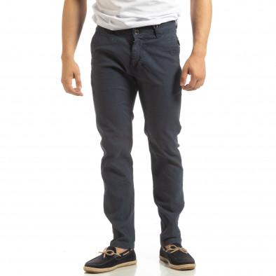 Ανδρικό μπλε παντελόνι CHINO it090519-6 2