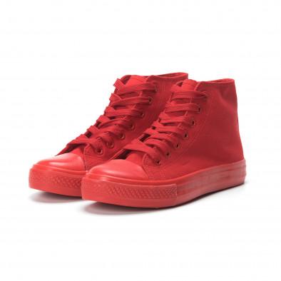 Γυναικεία κόκκινα ψηλά sneakers it250119-78 3