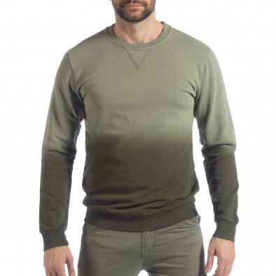 Ανδρική πράσινη μπλούζα με επένδυση it040219-91 4