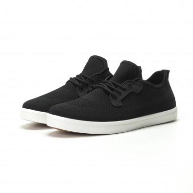 Ανδρικά μαύρα sneakers ελαφρύ μοντέλο it250119-14 3