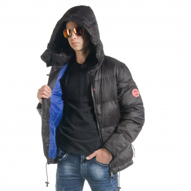 Ανδρικό μαύρο χειμωνιάτικο μπουφάν Marshall Angel it091219-11 3