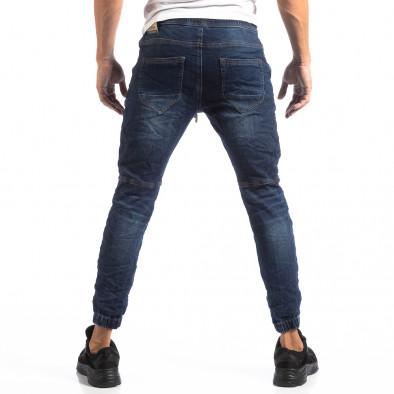 Ανδρικό γαλάζιο τζιν Jogger Biker style it250918-22 5