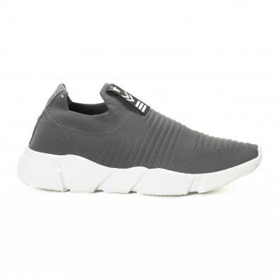 Ανδρικά γκρι αθλητικά παπούτσια Slip-on it221018-33 2