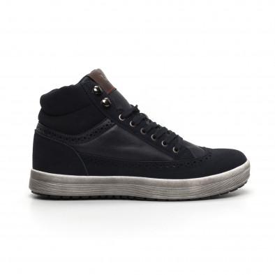 Ανδρικά μπλε ψηλά sneakers  it260919-43 2