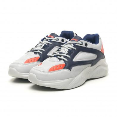 Ανδρικά γκρι αθλητικά παπούτσια ελαφρύ μοντέλο it251019-14 4