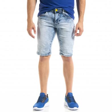 Ανδρικό γαλάζιο τζιν βερμούδα Yes!Boy it050620-11 3