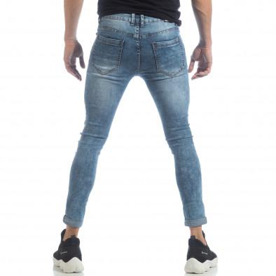 Ανδρικό γαλάζιο τζιν Skinny Washed Jeans it040219-7 4