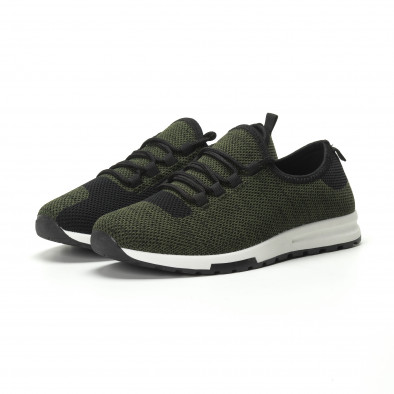 Ανδρικά πράσινα μελάνζ αθλητικά παπούτσια ελαφρύ μοντέλο it250119-13 3