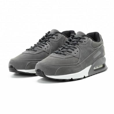 Ανδρικά γκρι σουέτ αθλητικά παπούτσια Air it140918-28 3