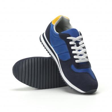 Ανδρικά μπλε αθλητικά παπούτσια κλασικό μοντέλο it250119-4 2