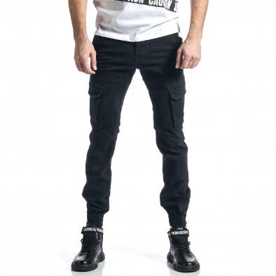 Ανδρικό μαύρο παντελόνι cargo Jogger it010221-43 2