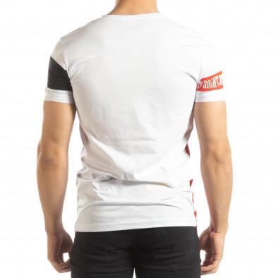 Ανδρική λευκή κοντομάνικη μπλούζα Be Creative it150419-66 3