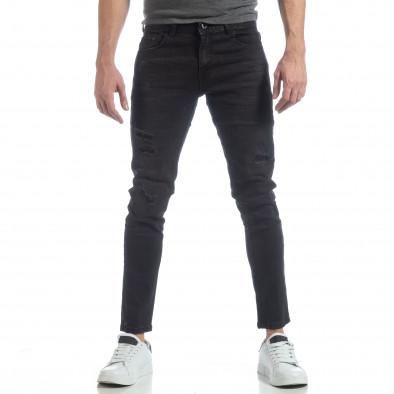 Ανδρικό μαύρο τζιν Skinny fit it040219-4 3