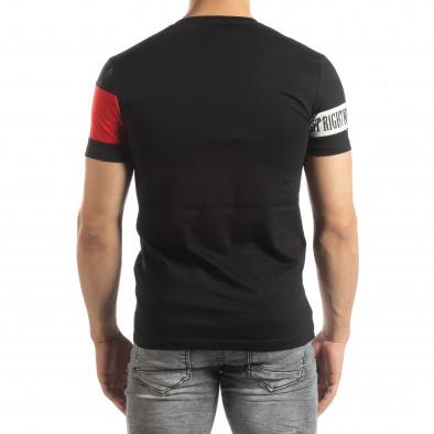 Ανδρική μαύρη κοντομάνικη μπλούζα Be Creative it150419-65 3