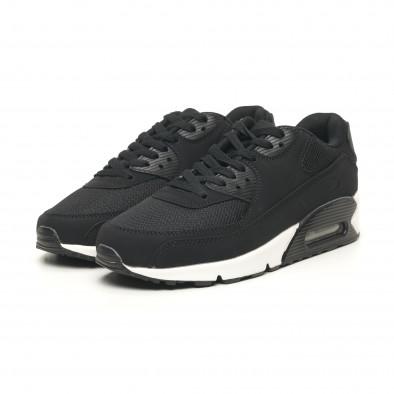 Ανδρικά μαύρα αθλητικά παπούτσια με αερόσολα it251019-8 4